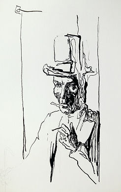 "Alex Bednarz ""Bordenave"" (2016) Tusche, 20x30"