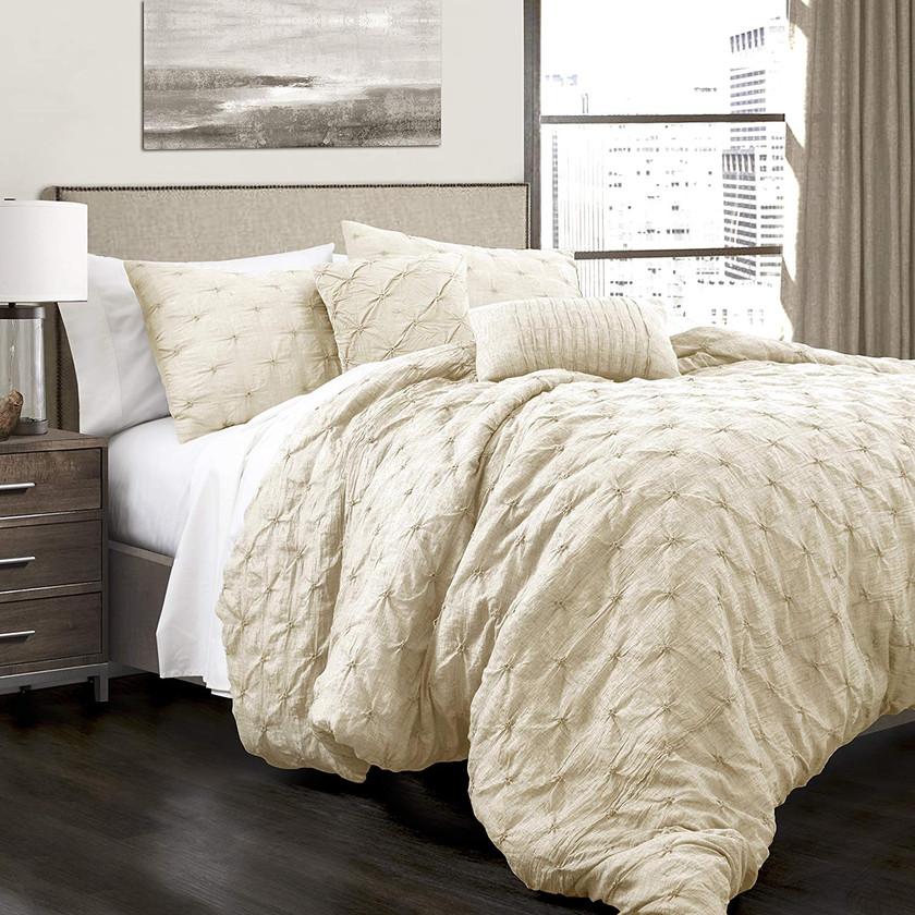 Ivory 5 piece Comforter Set