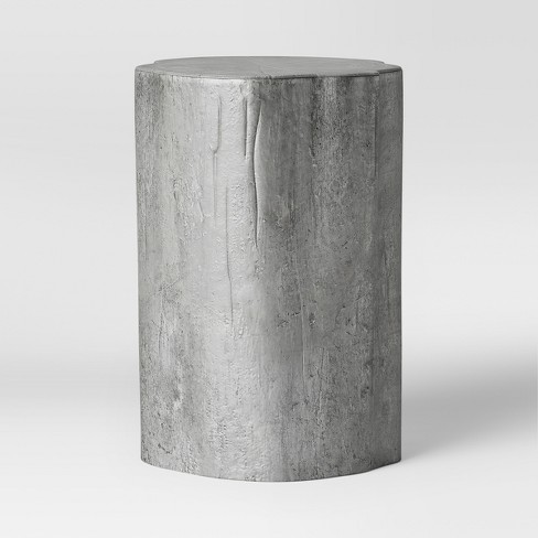 Metal Tree Trunk Accent Table