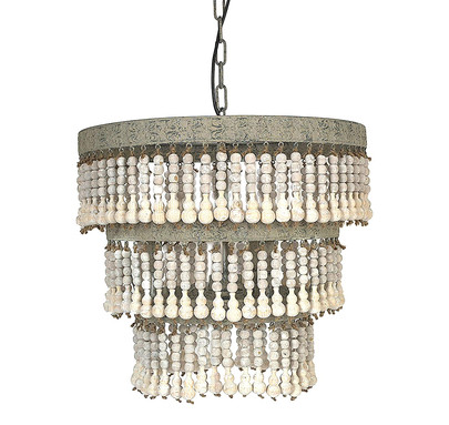 Metal and Wood Chandelier