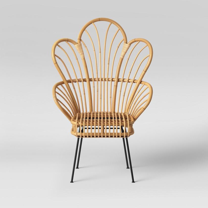 Fan Back Rattan Chair