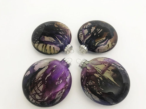 4 Pack - Large Disc Ornaments