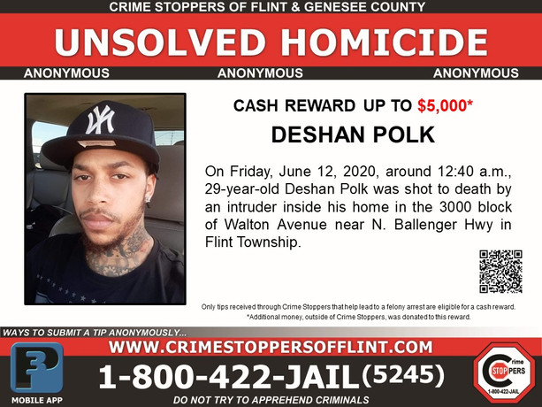 Deshan Polk - Homicide - Enhanced Reward
