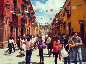 The celebration of Mexico's Independence Day at San Miguel