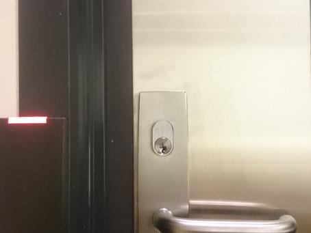 Custom-made commercial door hardware