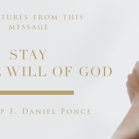 Stay in the will of God