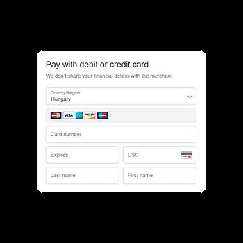 bankkártya adatok
