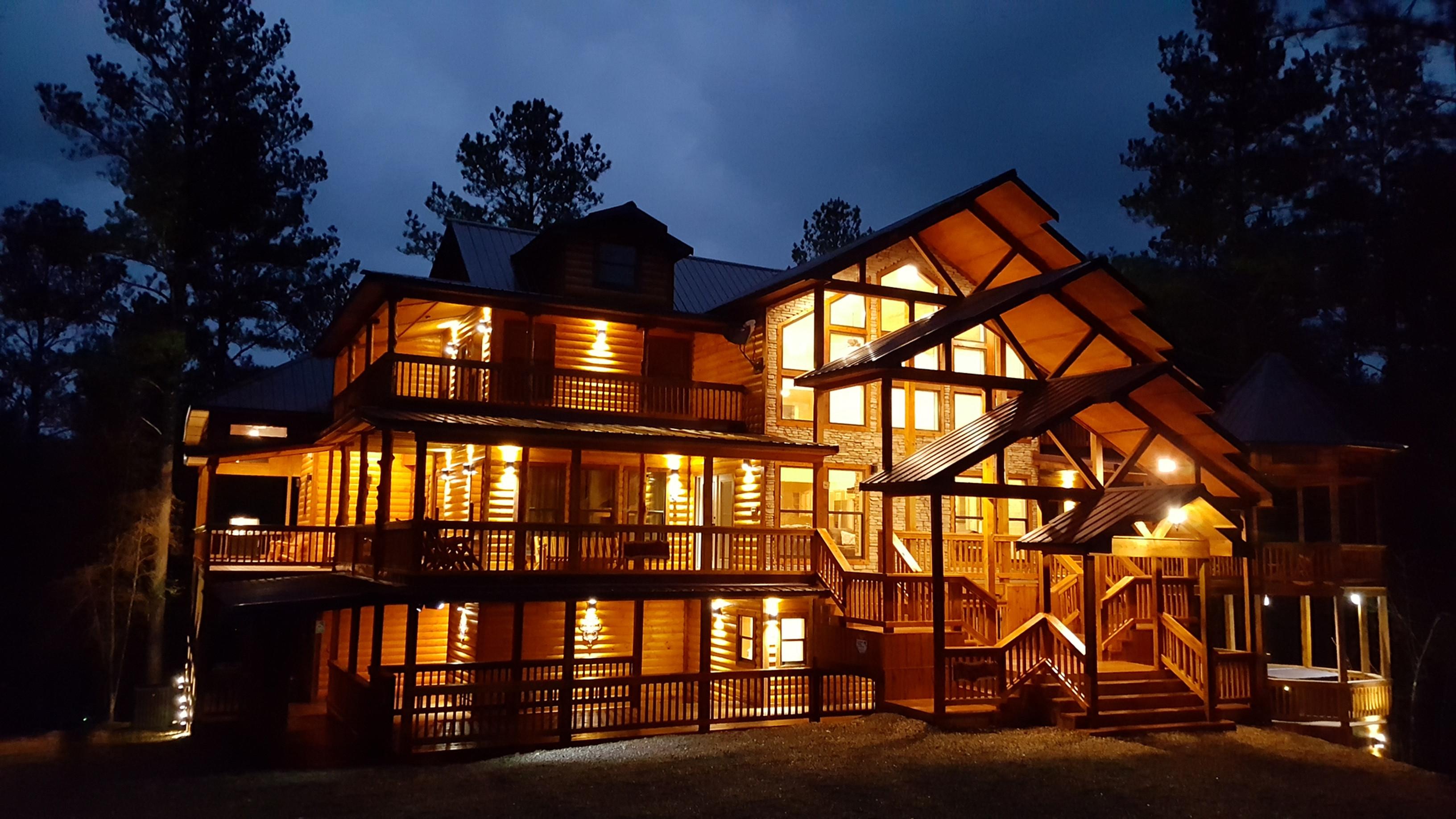Luxury Cabins In Beavers Bend Large Cabin In Broken Bow