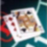 카지노 테이블 위에 있는 바카라 카드 이미지