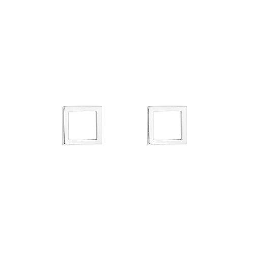 Серьги гвоздики квадраты STELLAR из серебра