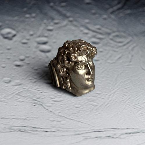 Кольцо с головой Давида STELLAR из бронзы