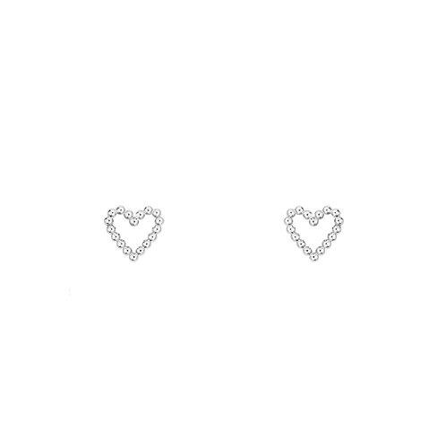Гвоздики сердца из серебра STELLAR