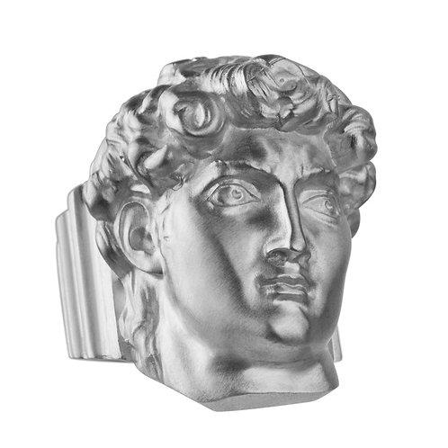 Кольцо с головой Давида из серебра STELLAR