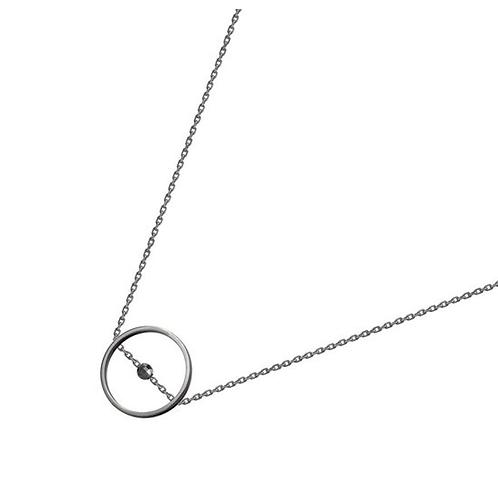 Круг на цепочке подвеска из серебра STELLAR