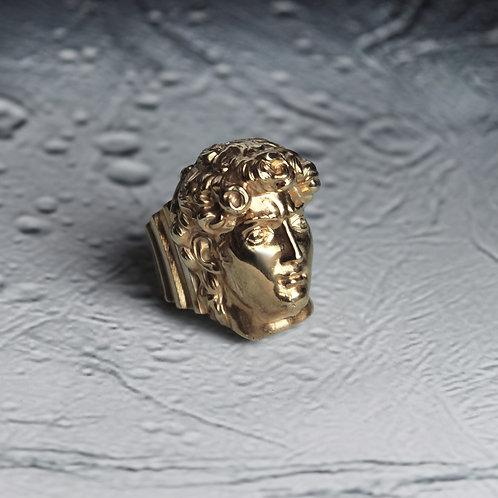 Кольцо Давид из серебра с позолотой STELLAR
