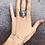Тонкий браслет цепочка из серебра с кругом STELLAR и большой перстень из серебра