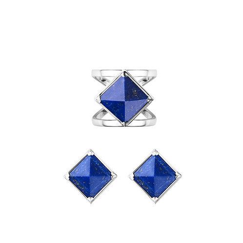 Комплект украшений - кольцо и серьги BlueMoon