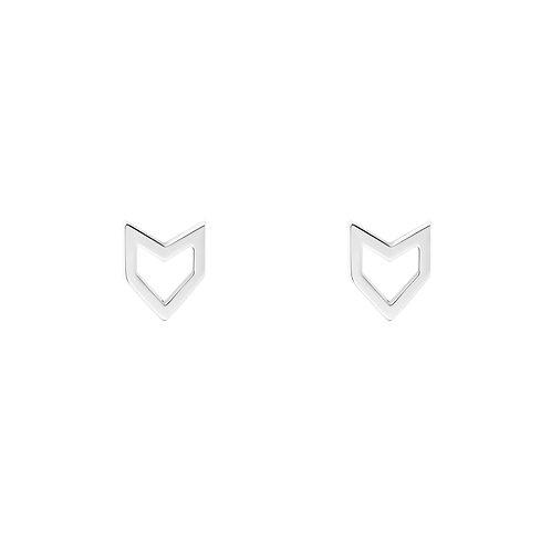 Серьги гвоздики в геометрическом стиле STELLAR