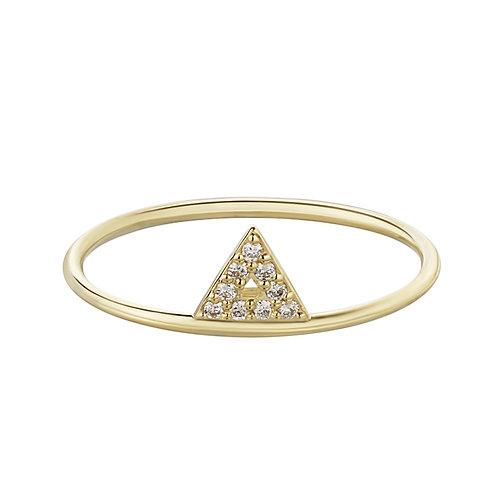 Кольцо из золота с треугольником из бриллиантов STELLAR