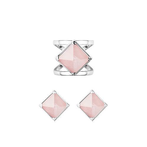 Комплект украшений - кольцо и серьги Rose Shining