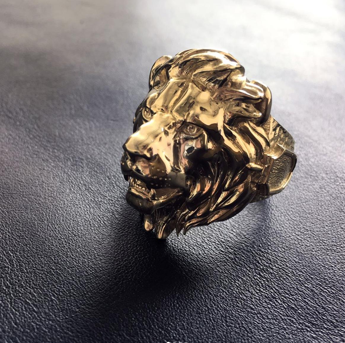 """Кольцо """"Лев"""" из золота"""