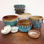 Planters and Soap Dishes