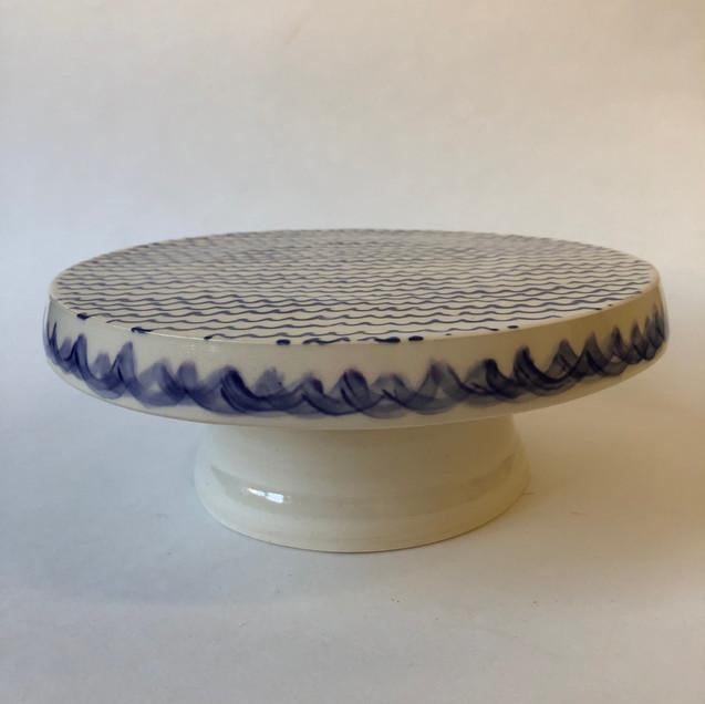 Sea Waves Porcelain Cake Stand