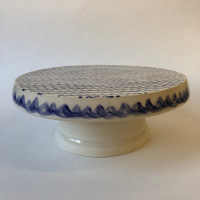 Sea Waves Porcelain Cake Stand