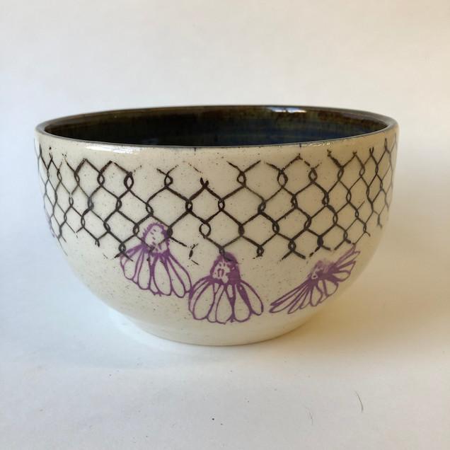 Cone Flower Ceramic Bolw