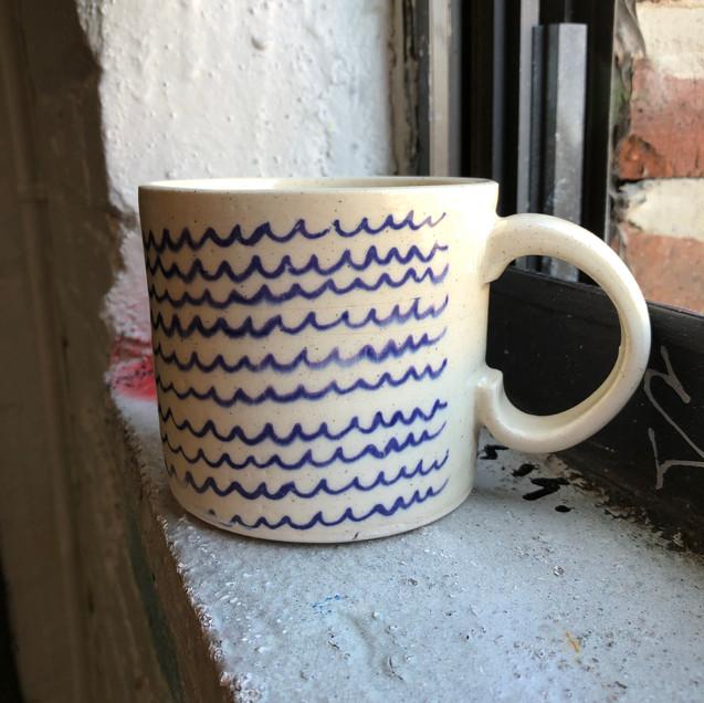 Sea Waves Ceramic Mug