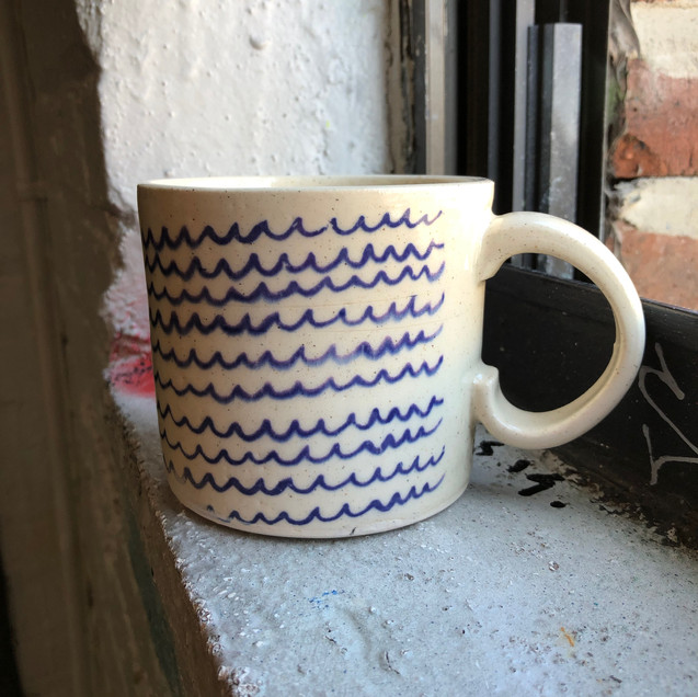 Sea Waves Ceramic Mug