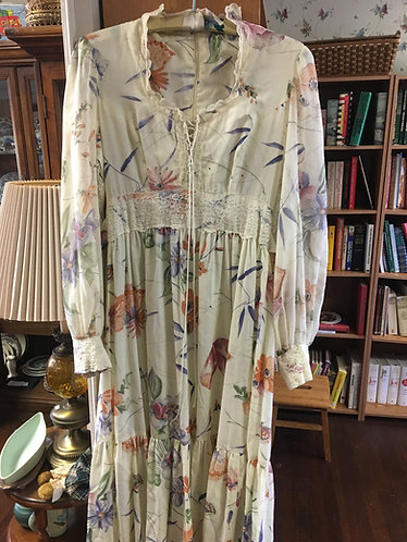 1970's Gunnie Sax long prairie dress