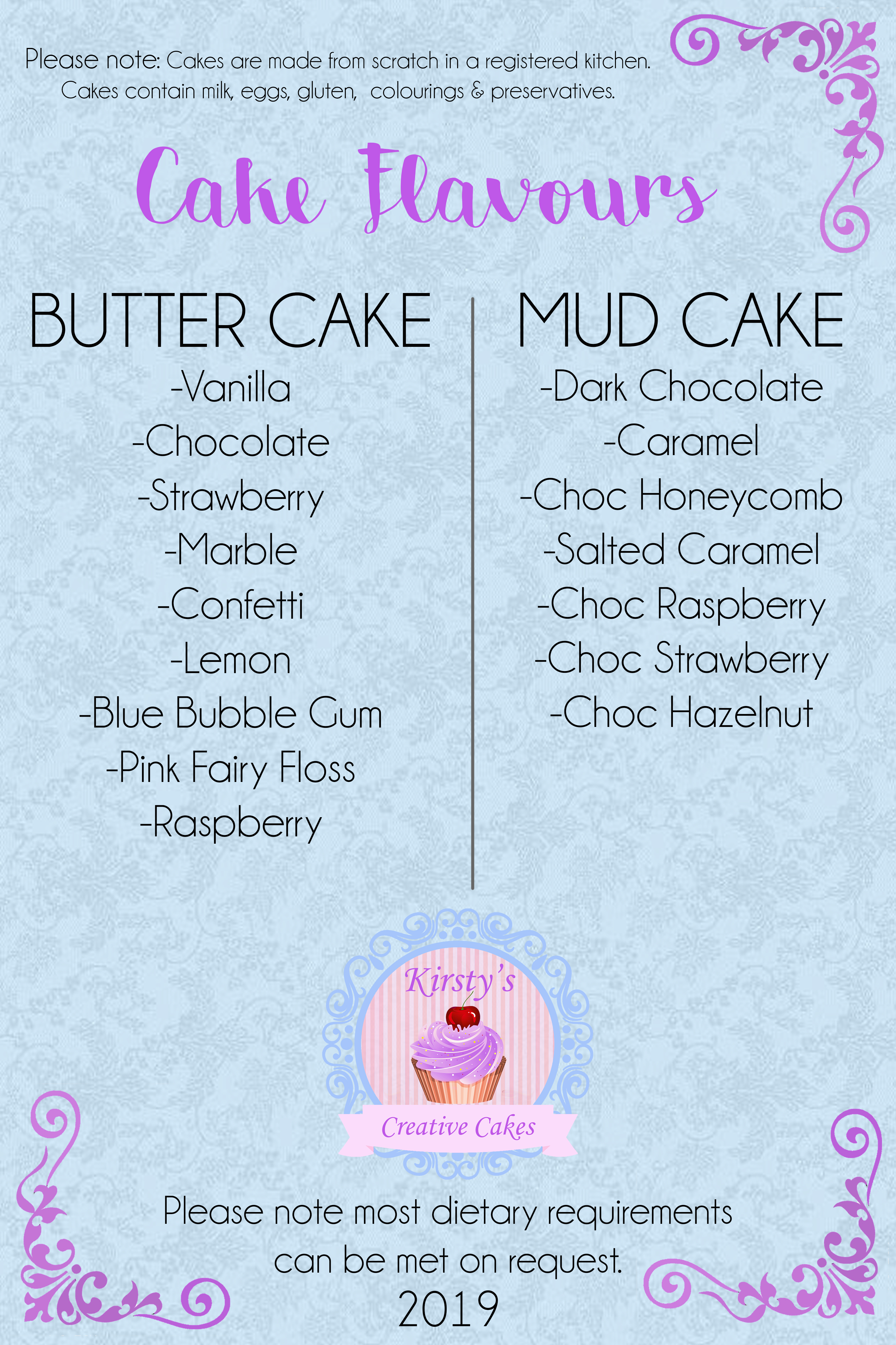 Cake Flavours