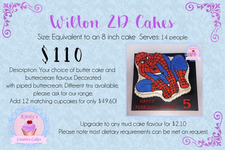 Wilton 2D Cakes