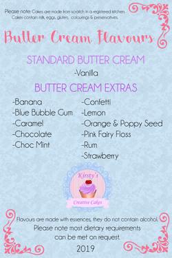 Buttercream Flavours