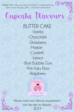 Cupcake Flavours