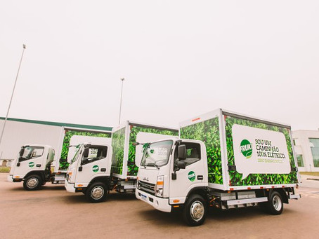 Bebidas Fruki de Lajeado inicia operação logística com caminhões elétricos no RS