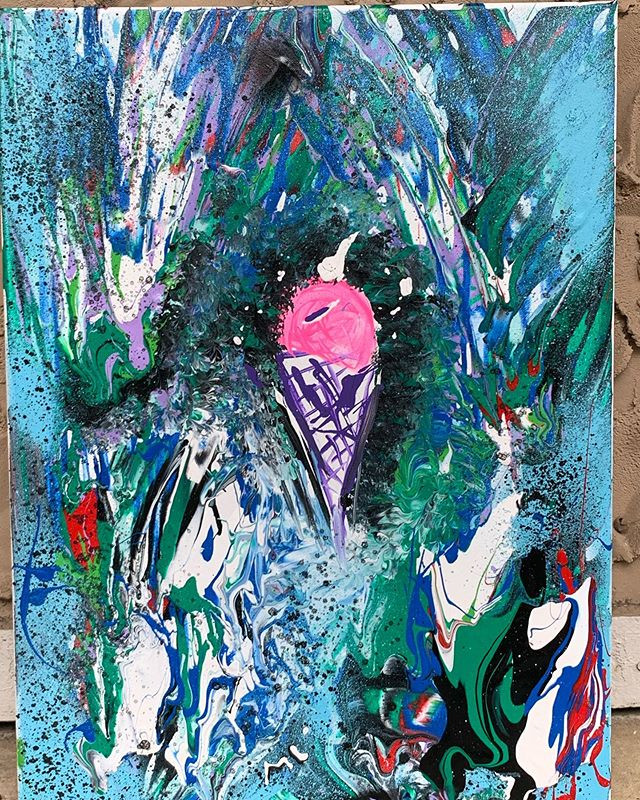 "Another #abstractart from ""The Sweetest�"