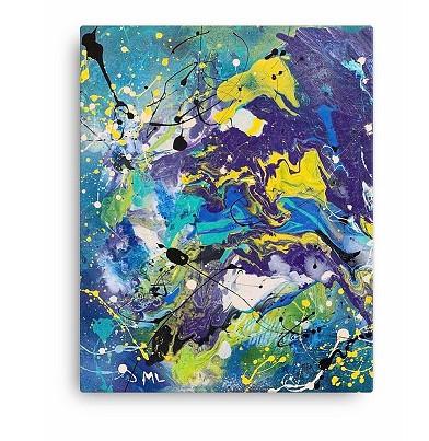 purple magic canvas art