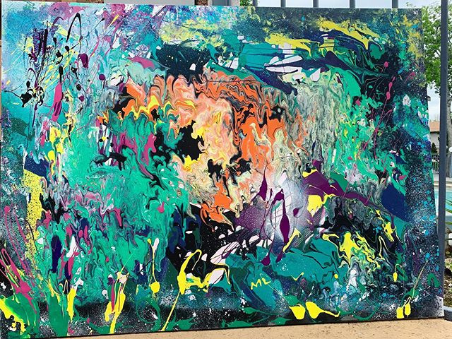 My #abstractart painting is part of my #