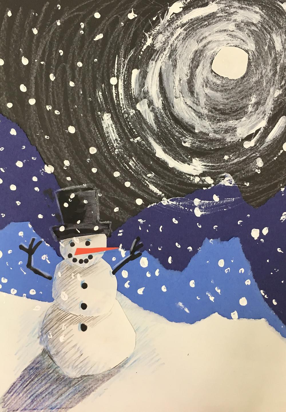 Snowman Landscape
