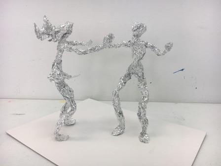 Degas Tin Foil Figures