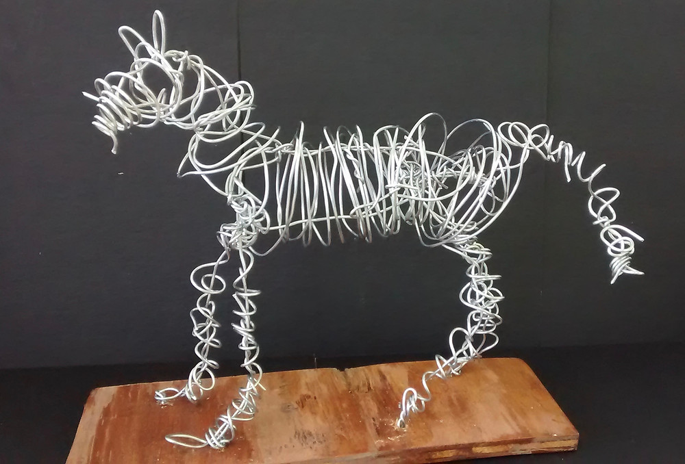 Wire Sculpture Horses