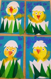 Spring Chicks Art Project