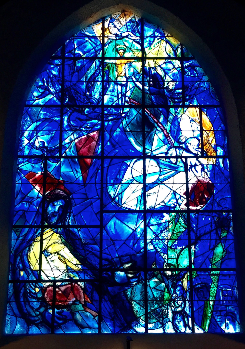 Photo of Marc Chagall's Stained Glass Window