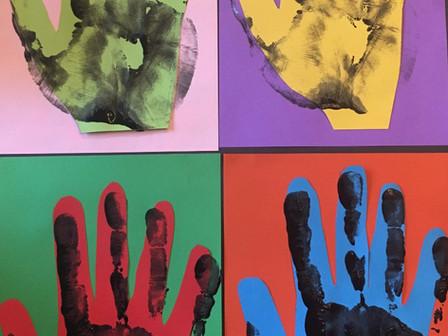 Andy Warhol Handprints