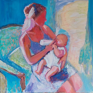 Painting of mother and child