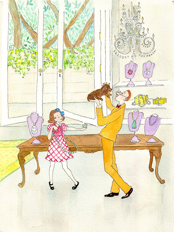 Kim Weissenborn's charmining illustrations from children's book Pansy at the Palace.