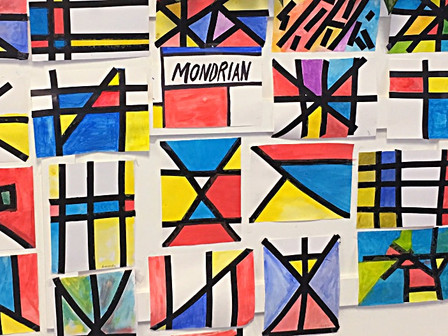 Mondrian Inspired Design