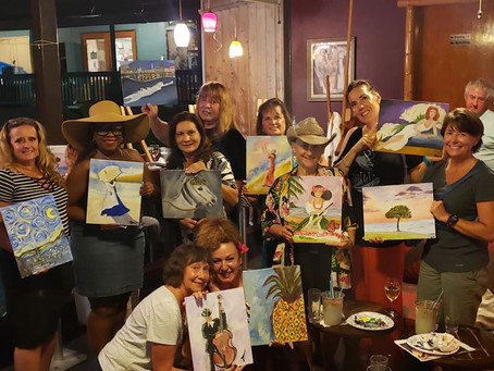 Paint N Sip at Gertrude's